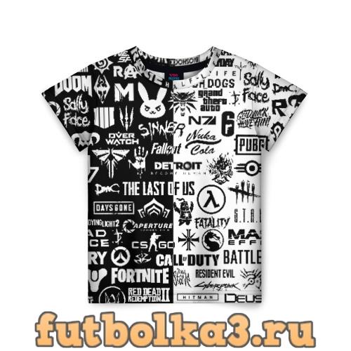 Футболка ЛОГОТИПЫ ИГР детская