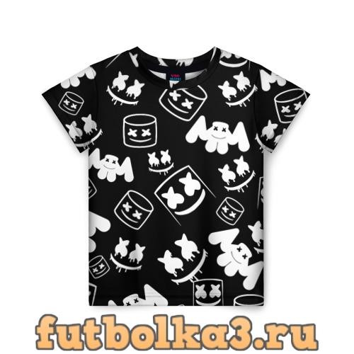 Футболка Marshmello ЧБ детская