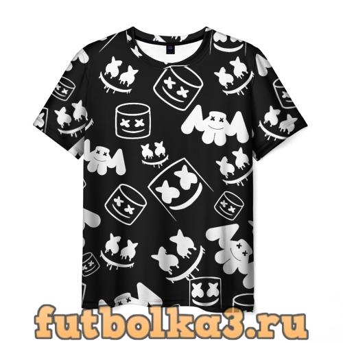 Футболка Marshmello ЧБ мужская