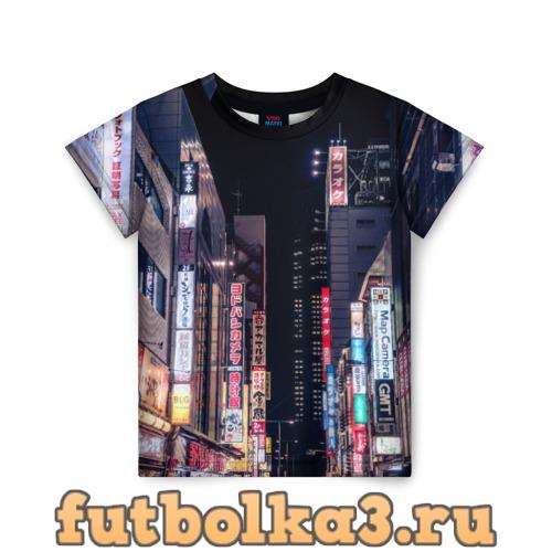 Футболка Ночной Токио детская