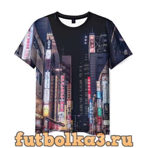 Футболка Ночной Токио мужская