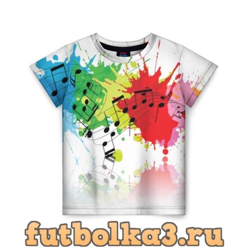 Футболка Ноты color детская