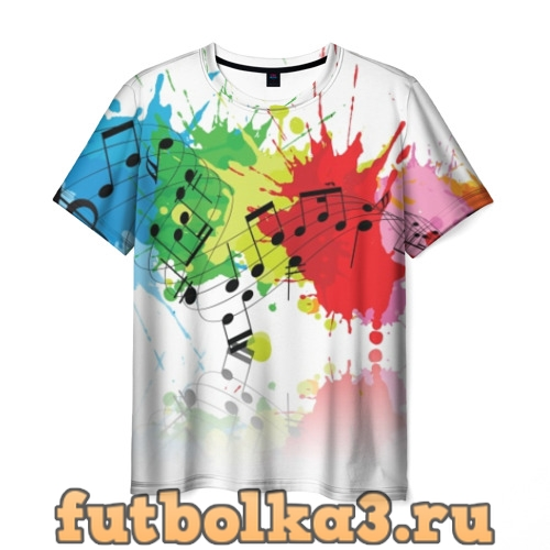 Футболка Ноты color мужская