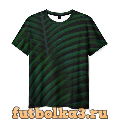 Футболка Пальмовые листья  мужская