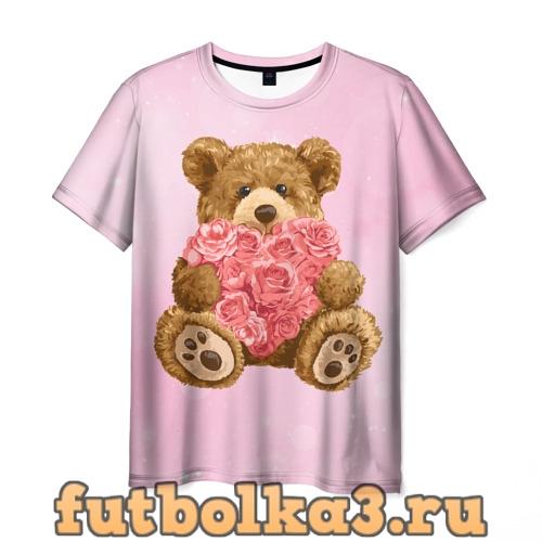 Футболка Плюшевый медведь с сердечком мужская