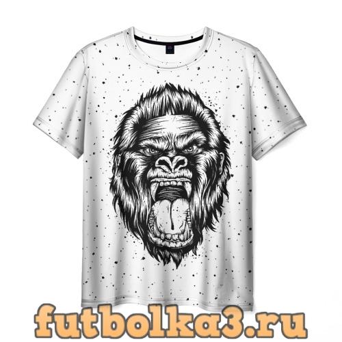 Футболка Рык гориллы мужская