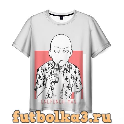 Футболка Saitama (One-Punch Man) Ванпач мужская