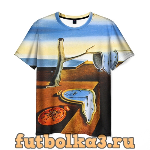 Футболка Сальвадор Дали - Постоянство Памяти мужская