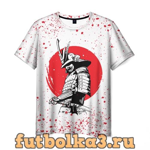 Футболка Самурай в каплях крови (Z) мужская