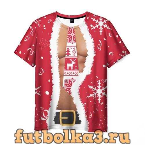 Футболка Санта мужская