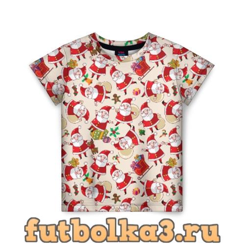 Футболка Санта детская