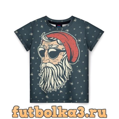 Футболка Санта хипстер детская