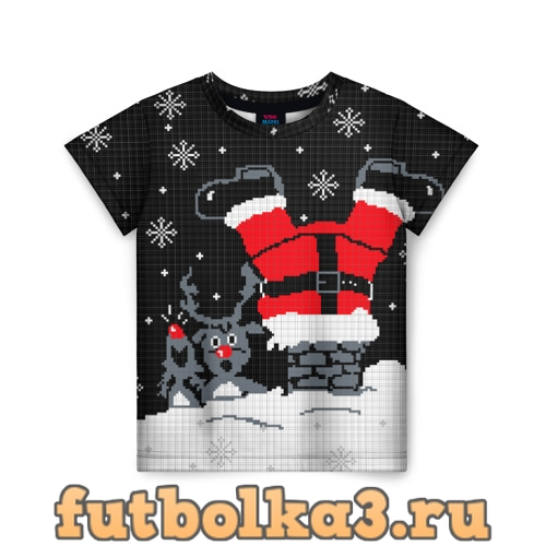 Футболка Санта Клаус в трубе детская