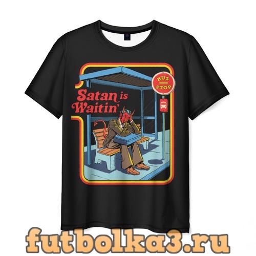 Футболка Satan Waitin мужская