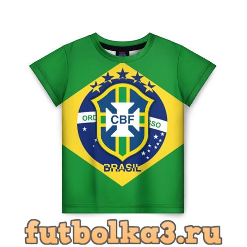 Футболка Сборная Бразилии флаг детская