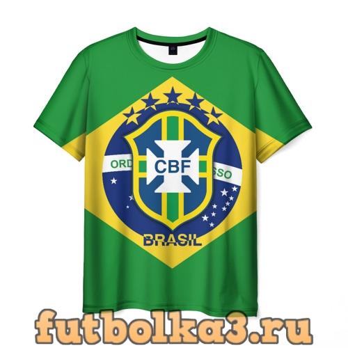 Футболка Сборная Бразилии флаг мужская