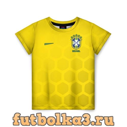 Футболка Сборная Бразилии узор соты детская