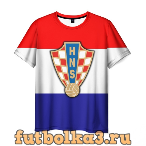 Футболка Сборная Хорватии флаг мужская
