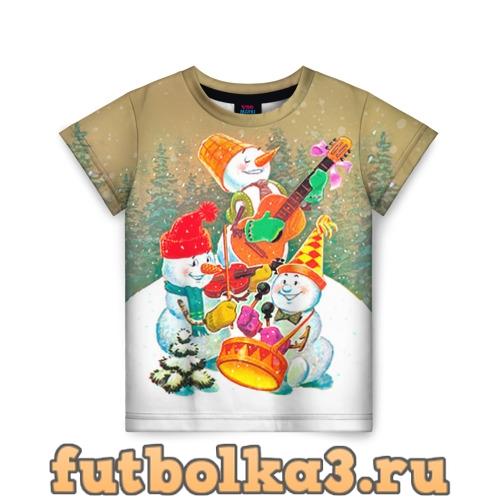 Футболка Снеговики детская