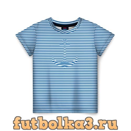 Футболка Тельняшка Якорь детская