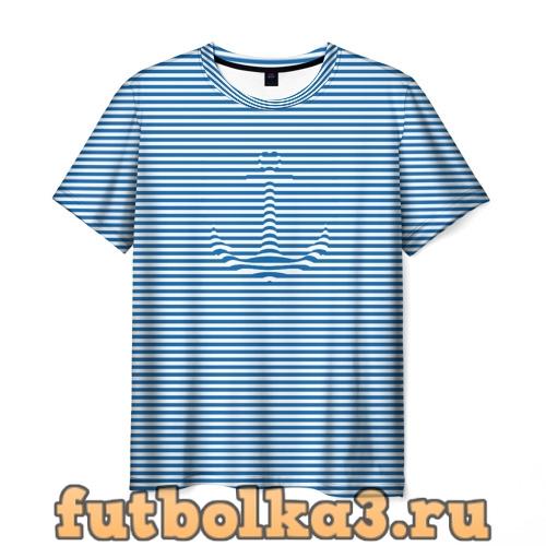 Футболка Тельняшка Якорь мужская