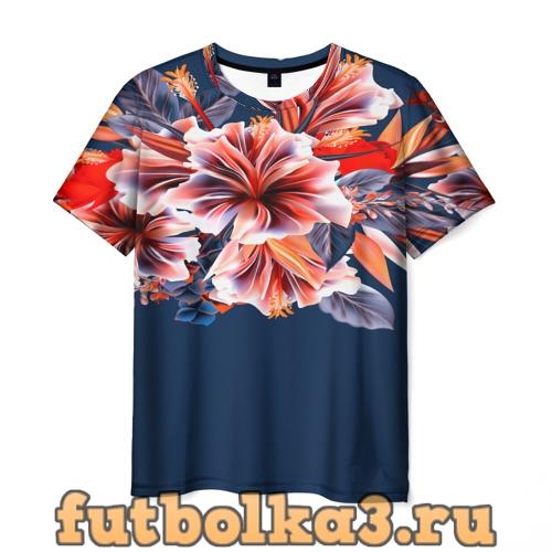 Футболка Цветочная мода мужская