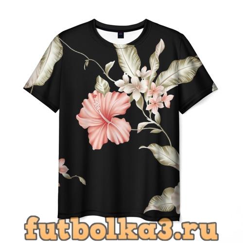 Футболка цветок абстракция мужская