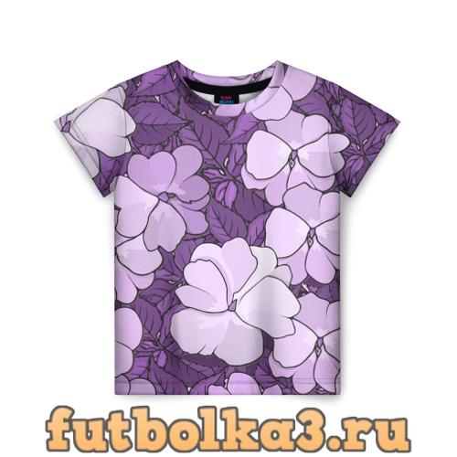 Футболка Цветы детская