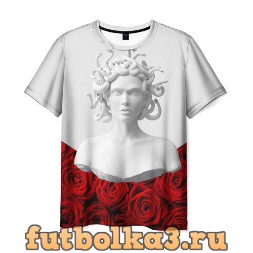 Футболка Унисекс / Snake roses girl мужская