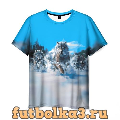 Футболка Волчья охота мужская