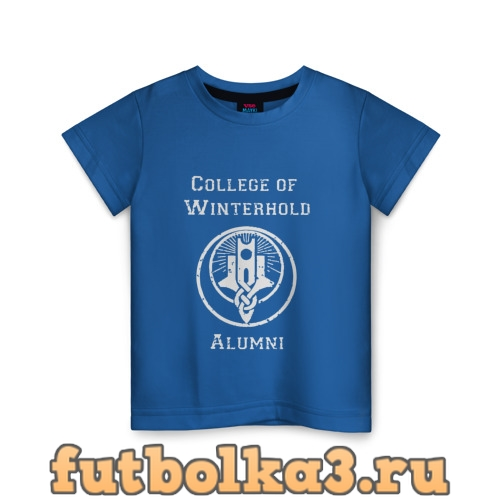 Футболка College of Winterhold Alumni детская