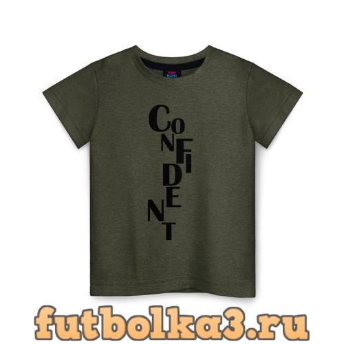 Футболка confident детская