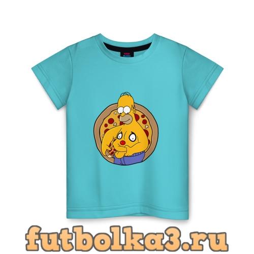 Футболка Гомер и пицца детская