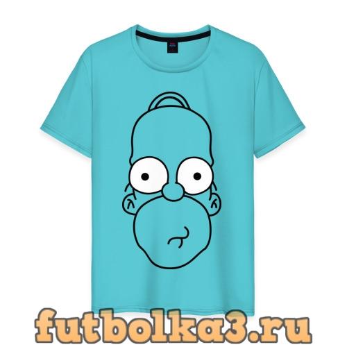 Футболка Гомер лицо мужская
