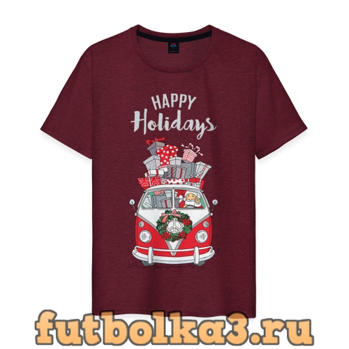 Футболка Happy holiday мужская