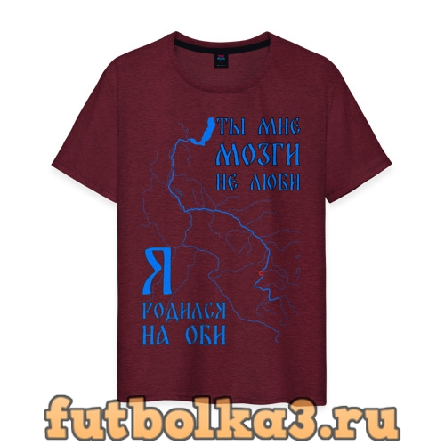 Футболка Я родился на Оби (Новосибирск) мужская