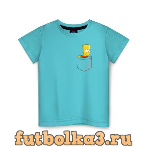 Футболка Карманный Барт детская