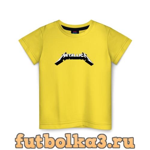 Футболка Логотип Metallica (old logo) детская