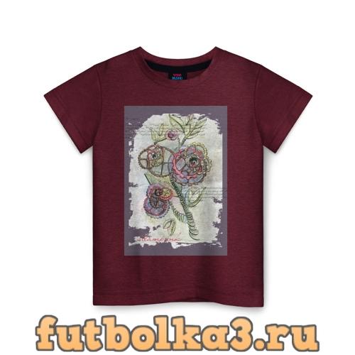 Футболка Механический цветок детская
