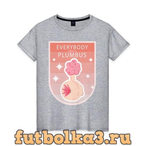 Футболка Плюмбус женская