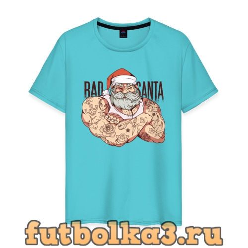 Футболка Плохой Санта мужская