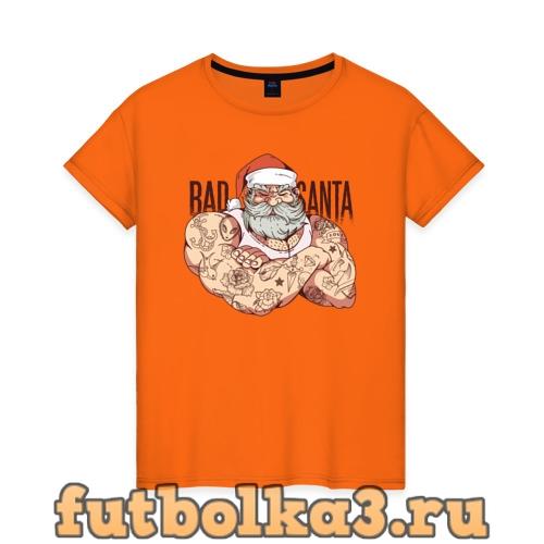 Футболка Плохой Санта женская