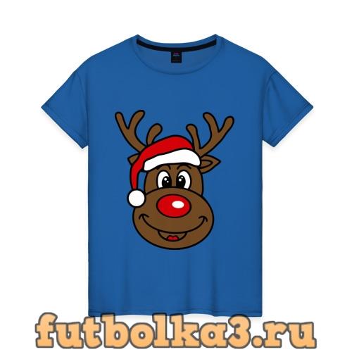 Футболка Рождественский олень женская