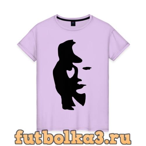 Футболка саксофонист или девушка женская