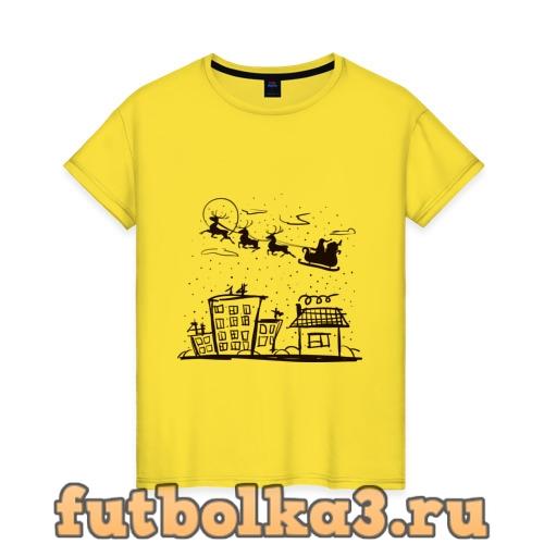 Футболка Санта женская