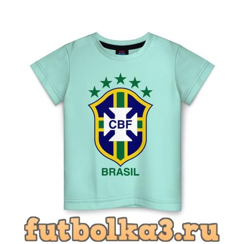 Футболка Сборная Бразилии по футболу детская