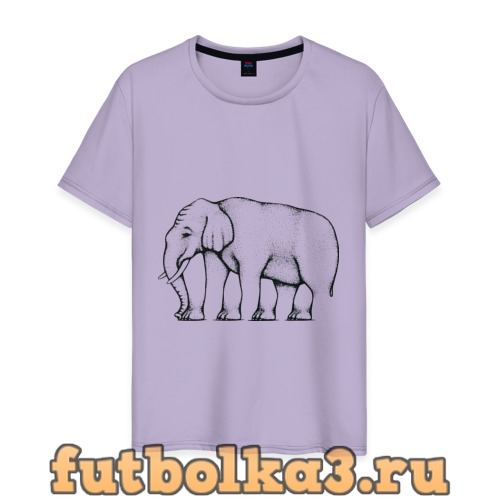 Футболка Сколько ног у слона мужская