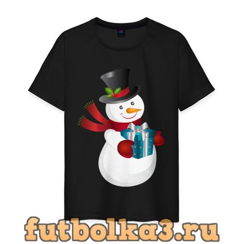 Футболка Снеговик мужская