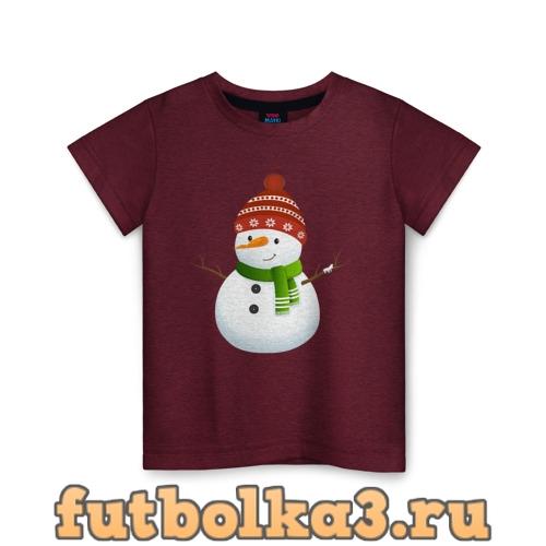 Футболка Снеговик детская