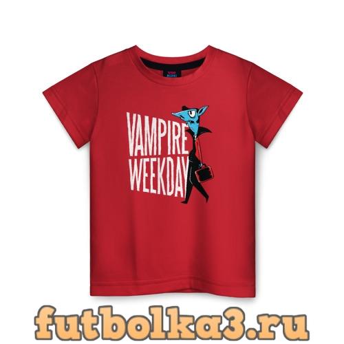 Футболка Всю неделю я Вампир детская
